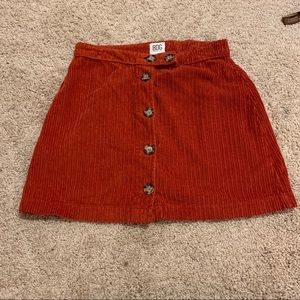 BDG urban outfitters corduroy rust color skirt